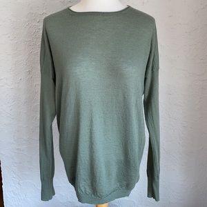 Vince Green 100% Cashmere Crewneck Sweater